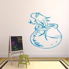 Famous Aquarium Fish Dr Seuss Customized Wall Decal Custom Vinyl Wall Art Personalized Name Baby Girls
