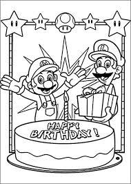 Dibujos Para Colorear Mario Bross 15 Mario Verjaardagsfeestje