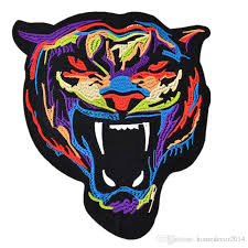 2020 18cm Embroidered Patch Tiger Sew Iron On Patches Badge For Bag Jeans Hat Appliques Diy Sticker Decoration Apparel Accessories 18cm X 21cm From Homedecor2014 1 33 Dhgate Com