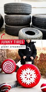 Christmas Tire Ornaments How To Recycle Old Tires Into Giant Ornaments For  The Ya… in 2020 | Christmas projects diy, Gingerbread christmas decor,  Giant christmas ornaments