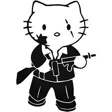 Hello Kitty S Hello Kitty Scarface Decal