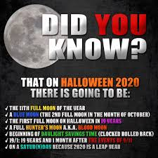 Halloween 2020 is first full moon on 10 ...