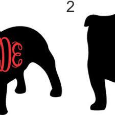 Bulldog Monogram Uga Georgia Bulldogs From Twangboutiquedotco