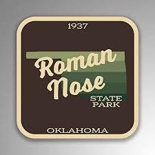 Amazon Com Jb Print Roman Nose State Park Explore Wanderlust Camping Oklahoma Vinyl Decal Sticker Car Waterproof Car Decal Bumper Sticker 5 Kitchen Dining