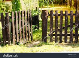 Wooden Fence Front Garden Miscellaneous Stock Image 179195051