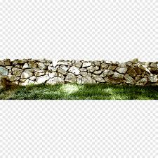 Green Grass And Gray Stone Fence The Stone Walls And Lawn Atmosphere Rectangle Png Pngegg