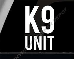 K9 Unit Dog Bumper Sticker Vinyl Decal Police Dog Law Etsy