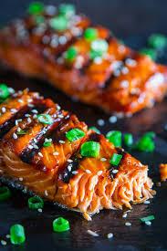 Grilled Teriyaki Salmon Recipe - Simply ...
