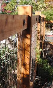Wood Fence With Welded Wire Mesh Houzz