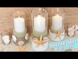 dollar tree beach candle holders