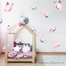Butterfly Wall Decal Nursery Wall Decal Watercolor Wall Decals Removable Wallpaper Wall Murals Just For You Decals