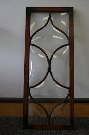 antique glass cabinet crown door