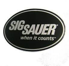 Authentic Sig Sauer Euro Oval Decal Large And When It Counts Tagline Diann E Williamsert