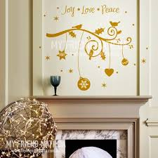 Holiday Branch Joy Love Peace Wall Decal For Christmas Designeddesigner On Artfire