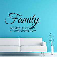 Zooyoo Family Where Life Begins And Love Never Ends Wall Sticker Home Decor Letters Decals Living Room Bedroom Wall Art Murals Stickers Home Decor Wall Stickerwall Stickers Home Decor Aliexpress