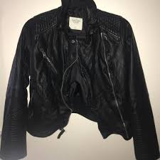 abercrombie fitch leather jacket