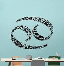 Amazon Com Cancer Wall Decal Astrology Horoscope Cancer Zodiac Sign Vinyl Sticker Cool Wall Art Design Wall Decor Housewares Kids Boy Girl Room Bedroom Decor Removable Wall Mural Cgd Home Kitchen