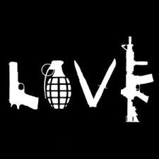 Gun Love Car Decals Prw