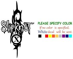 New 5 Slipknot Text Logo Music Rock Car Laptop Decal Various Colours Archives Midweek Com