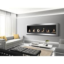 wall mounted ventless ethanol fireplace