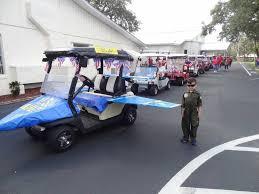 golf cart as u s navy blue angels jet