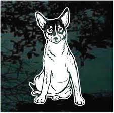 Solid Rat Terrier Decals Car Window Stickers Decal Junky