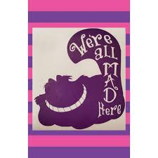 Cheshire Cat Car Decal Cheshire Cat Decal Alice In Wonderland Etsy