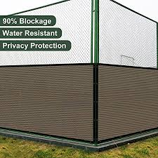 Amazon Com Coarbor 4 X12 Privacy Fence Screen Cover Mesh Blocker With Brass Grommets 180gsm Heavy Duty Fencing For Outdoor Back Yard Patio And Deck Backyard Garden Blocking Neighbor Brown Customized Garden