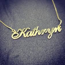 custom name pendant gold chain