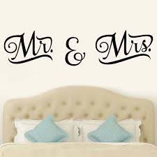 Pvc Mr Mrs Wall Stickers Diy Bedroom Living Room Wall Sticker Home Refrigerator Modern Home Decor Removable Decal Wall Art Wall Stickers Aliexpress