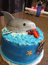 Pin by Wendi Jordan on Cake Decorating | Surf cake, Shark birthday cakes,  Shark cake