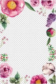 الوردي والأرجواني بتلة الزهور التوضيح الحدودي بطاقة معايدة عيد