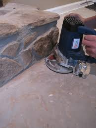 how to cut into a stone fireplace for