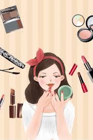 vector makeup beauty poster