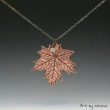 maple leaf necklace maple leaf charm