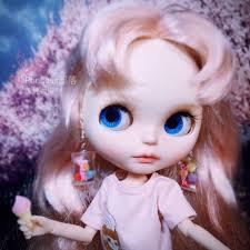 Blythe búp bê nhỏ màu kẹo bông tai trang sức phụ kiện búp bê đầu ...