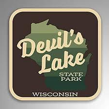 Amazon Com Jb Print Devil S Lake State Park Explore Wanderlust Camping Wisconsin Vinyl Decal Sticker Car Waterproof Car Decal Bumper Sticker 5 Kitchen Dining
