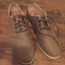 toms shoes nwot preston toffee coated