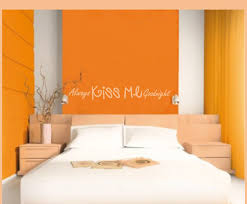 Kiss Me Goodnight Vinyl Wall Decal Bedroomdecor10 Contemporary Wall Decals By Vinyl Disorder Inc