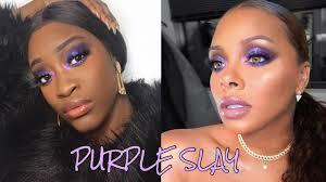 purple eyeshadow makeup tutorial dark