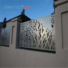 China Decorative Laser Cut Metal Fence Panel Privacy Steel Fence Panel China Laser Cutting Fence And Metal Privacy Fence Price