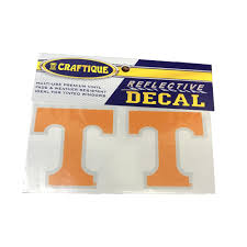 Vols Tennessee Power T Reflective Decal Alumni Hall