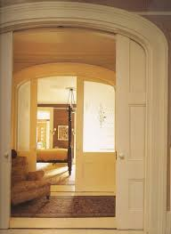 arch frosted glass pocket door