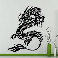 Car Tribal Chineses Dragon Hood Decals Vinyl Side Decor Stickers Fantasy Gothic Car Auto Window Vinyl Decal Sticker E527 Decorative Stickers Decal Stickervinyl Decals Stickers Aliexpress