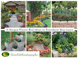 15 unique flower bed ideas for lawn