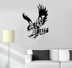 Vinyl Decal Quote Motivation Inspiration Eagle Bird Wall Stickers Ig3566 Ebay