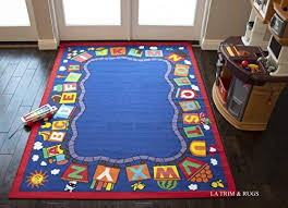 8 10 Baby Kids Girls Boys Children Toddler Playroom Nursery Room Bedroom Area Rug Carpet Funtime Playtime Colorful Multicolor Train Abc Animal Pattern Safe Sale Abc Train Design Area Rugs Shop