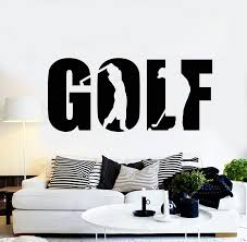 Vinyl Wall Decal Golf Word Golfer Sport Club Golfing Game Stickers Mur Wallstickers4you