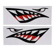 Tebru Car Sticker Shark Teeth Mouth Sticker 2pcs Waterproof Diy Funny Shark Teeth Mouth Sticker Decal Car Kayak Boat Truck Decoration Walmart Com Walmart Com