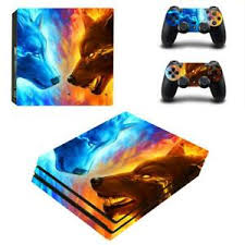 Iced And Fire Wolves Monsters Vinyl Decals For Ps4 Pro Console Controllers Skins Ebay